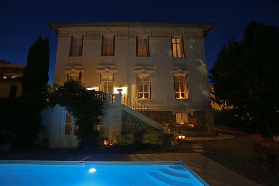 Villa and Pool Night 3
