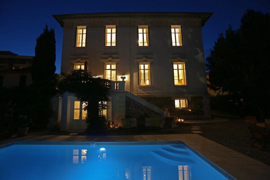 Villa and Pool Night